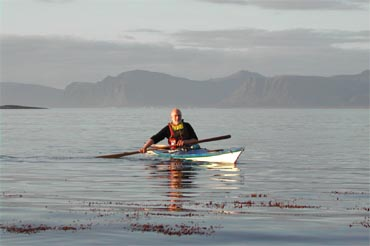 Reidar in his kayak